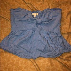 Blue pacsun bow Tube Top